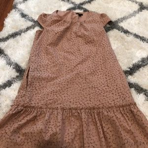 WOMEN'S GAP - PEACH DOTTED PETITE DRESS W/ POCKETS